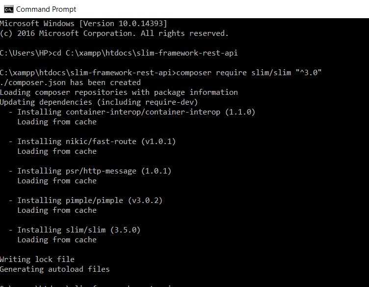 download slim in command prompt