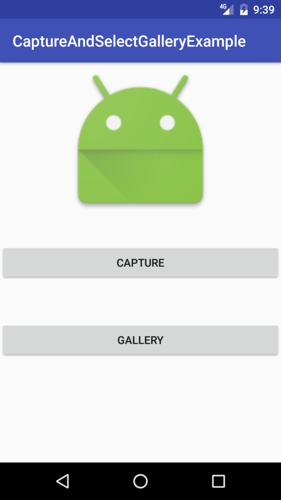 sample screen android capture and select image gallery tutorial