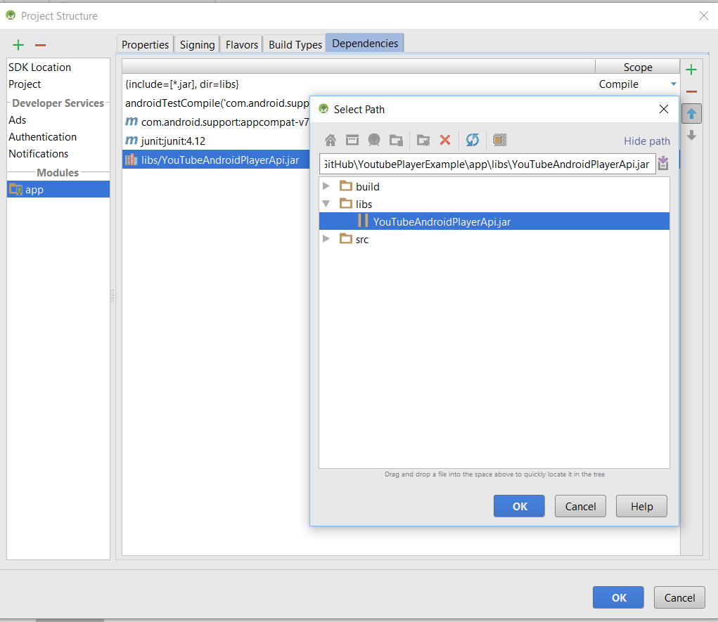 Android Youtube Data API Play Youtube Video Tutorial - QuestDot